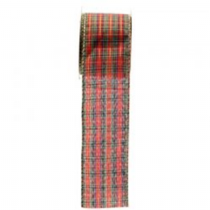 TARTAN WIRED EDGE RIBBON  RI7122 out of stock